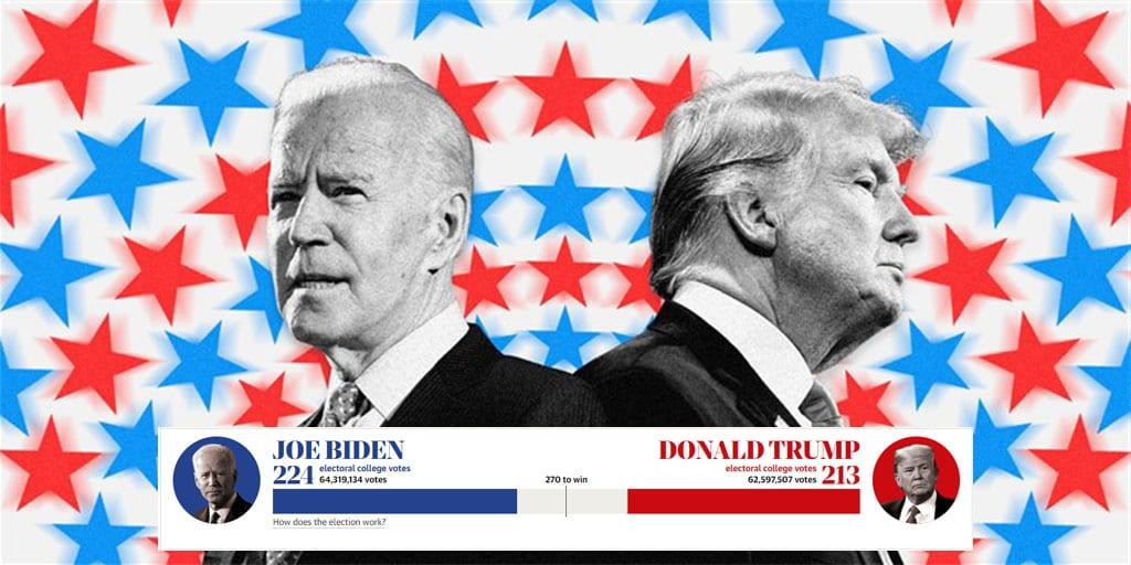 Présidentielle américaine 2020 : duel très serré entre Donald Trump et Biden