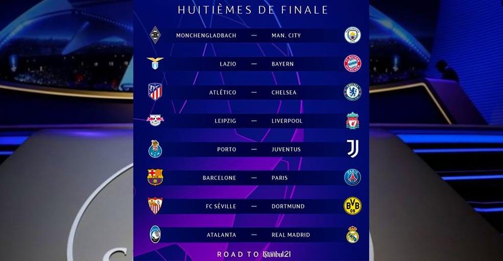 Tirage Ligue des Champions : le Barça pour le PSG, le programme complet des 8es !