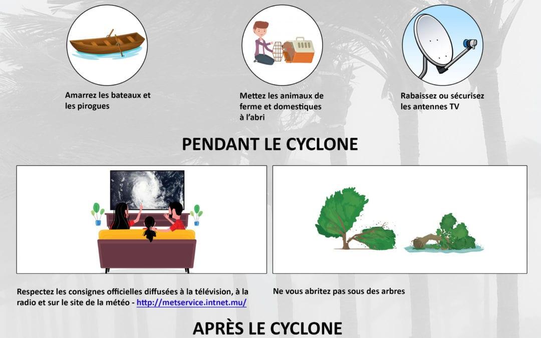 Précautions à prendre à l'annonce d'un cyclone
