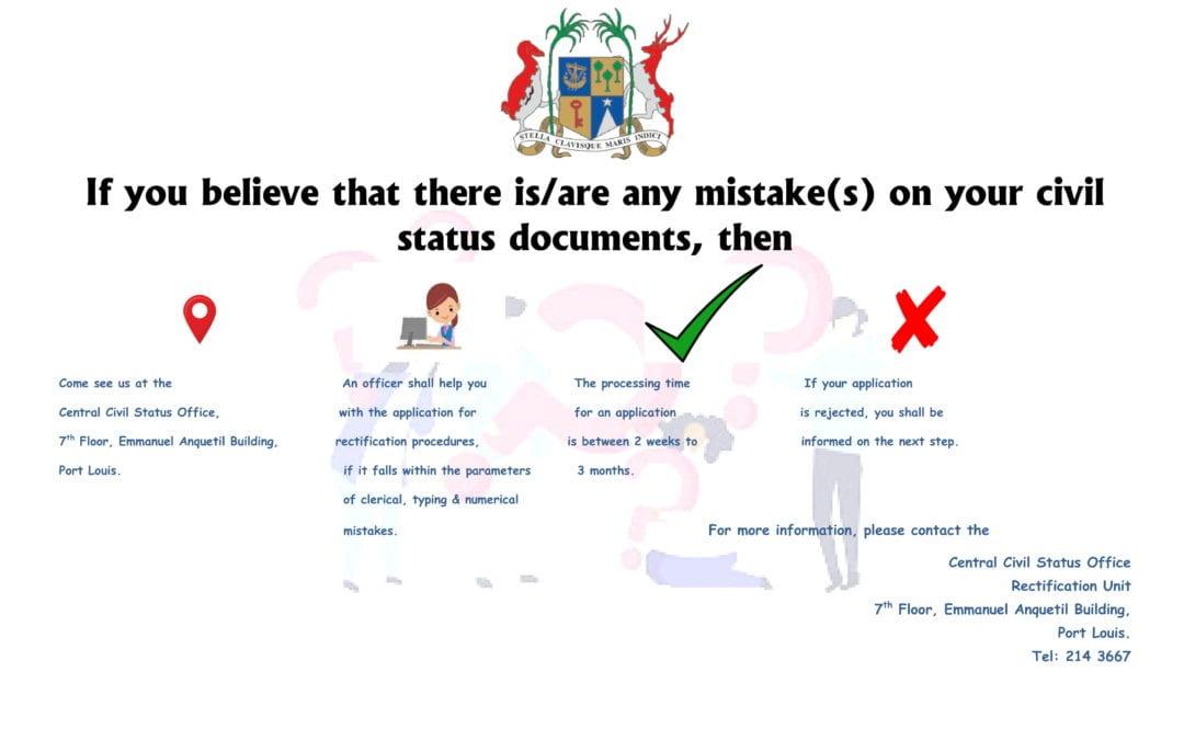 Etat civil : Un bureau de rectification administrative voit le jour