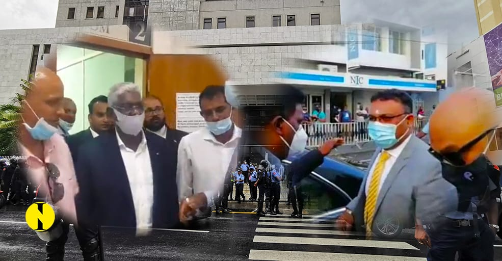 12 janvier : Yogida Sawmynaden et Mario Nobin devant la cour de district de Port-Louis