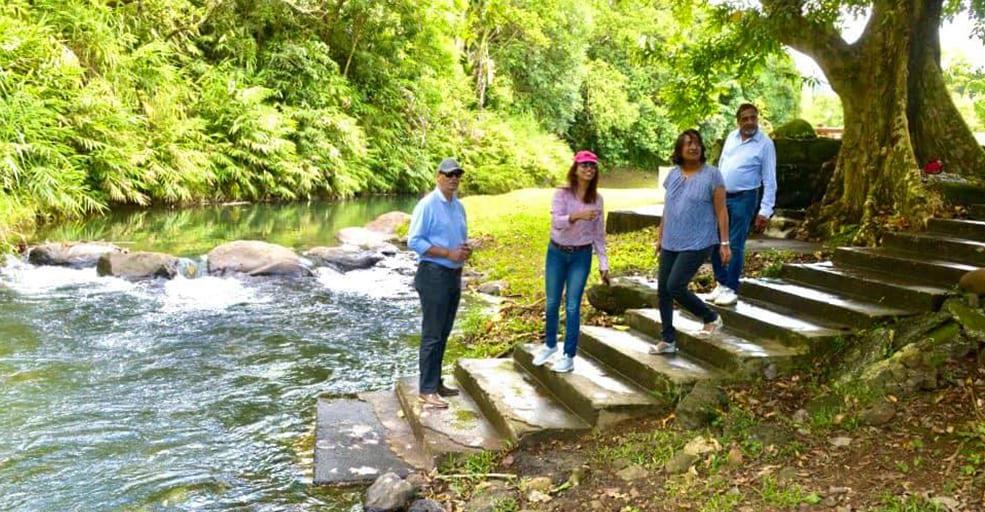 Cavadee : Les trois élus du n°11 effectuent une visite aux abords des rivières