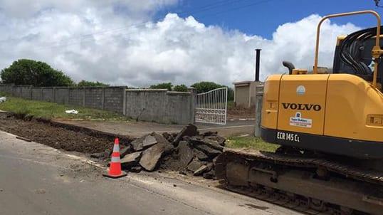 La route qui relie Hollyrood à Beaux-Songes/Pierrefonds bientôt réparée