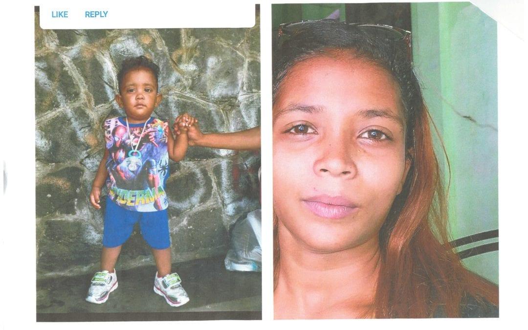 Une mère de 20 ans et son fils de 2 ans portés disparus