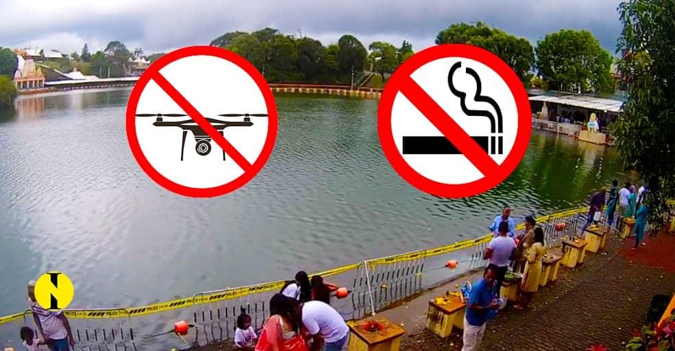 À Grand-Bassin : Fumer et faire voler des drones interdits