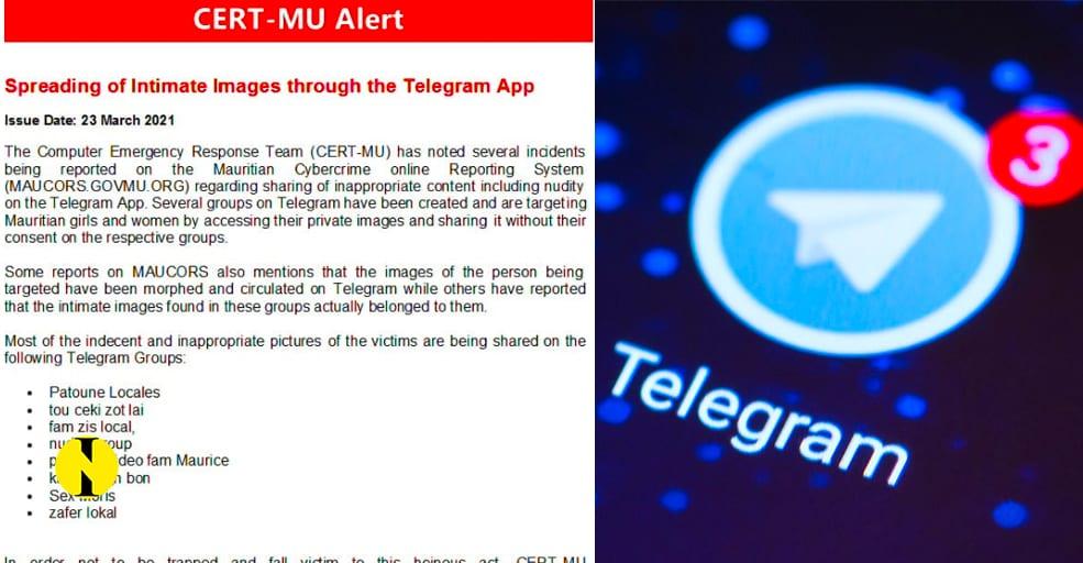 CERT-MU demande à Telegram de bloquer les groupes où circulent des photos à caractère pornographique