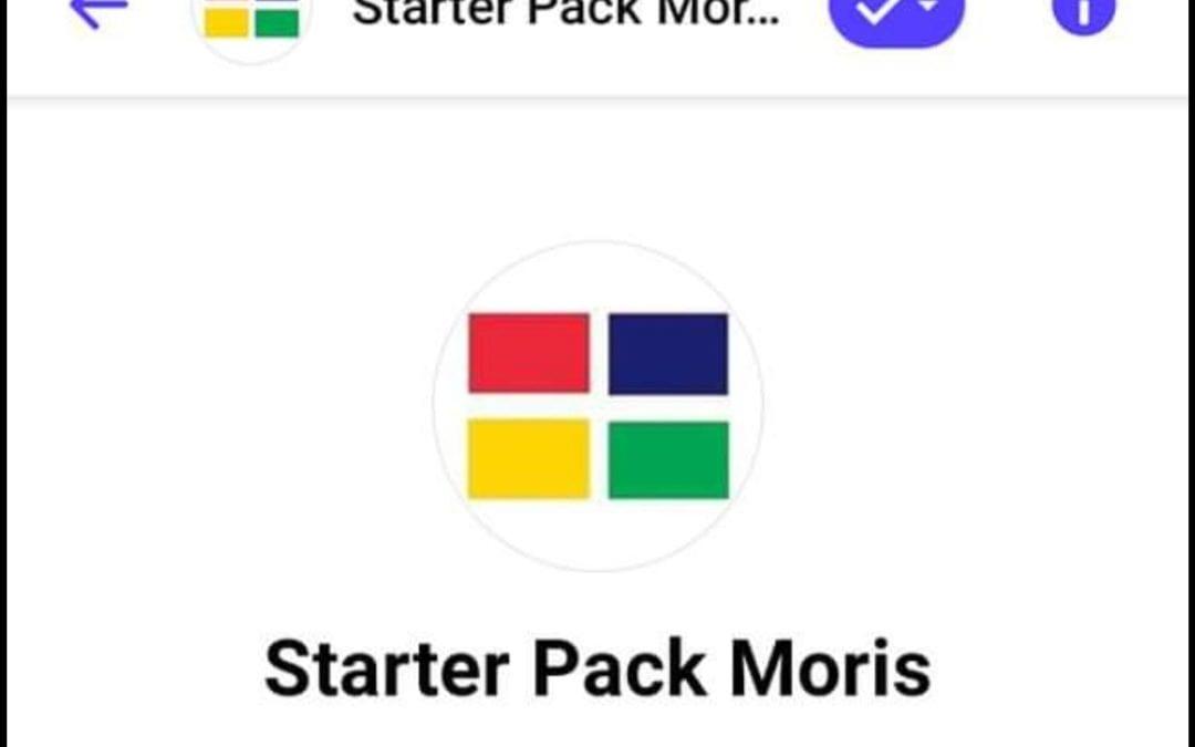 La page Starter Pack Moris désactivée