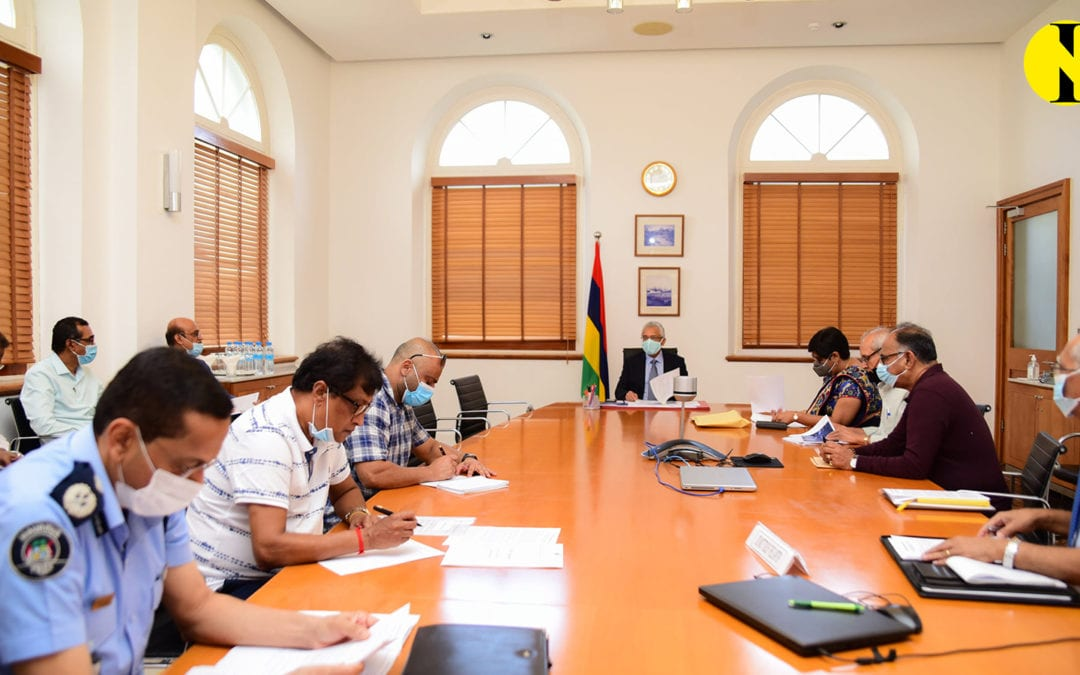 Réunion du Steering Committee aujourd'hui concernant les récentes averses et inondations