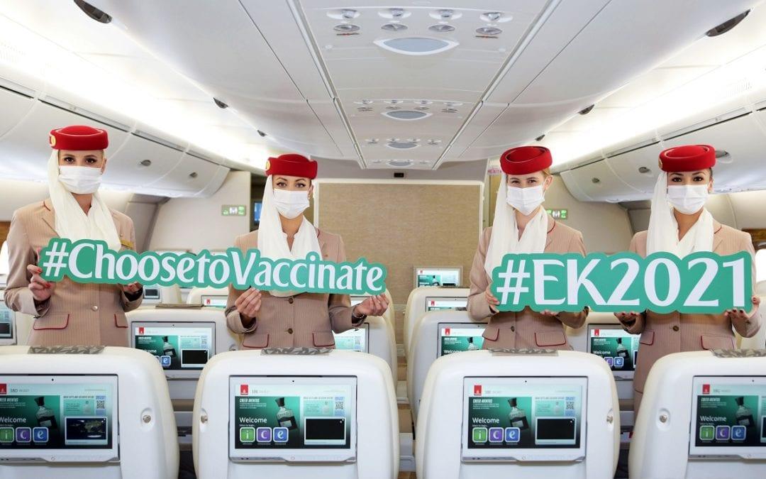 Vol Emirates EK2021 : Passagers et équipage vaccinés