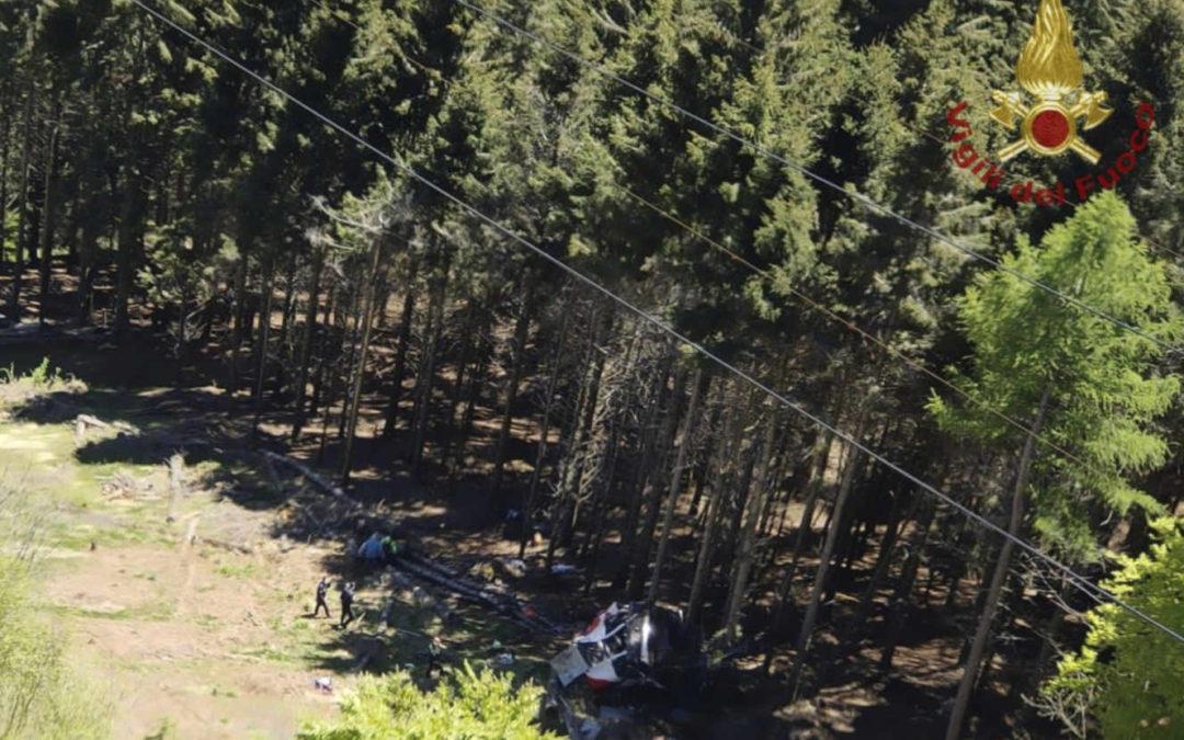 En Italie, huit morts et deux blessés graves dans la chute d'une cabine de téléphérique