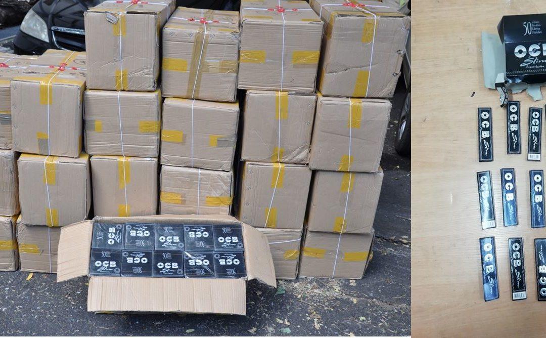 Baie-du-Tombeau : Un commerçant arrêté avec plus de 6 320 000 papiers à rouler