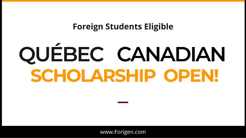 Québec : Programme de bourses d'études à frais partagés