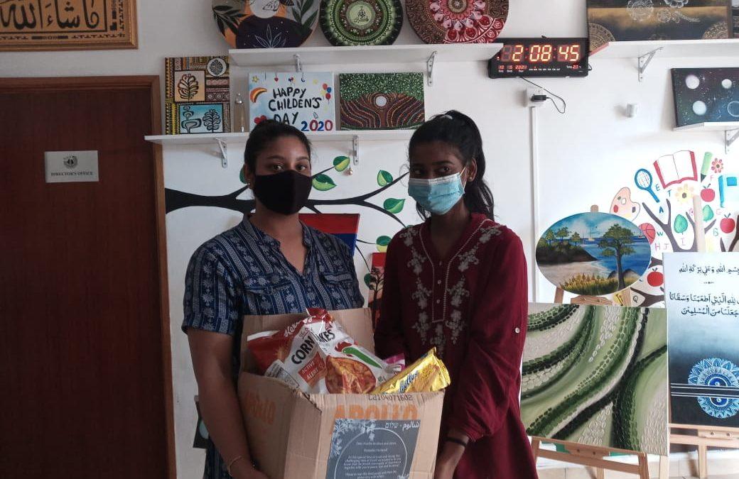 La 'Island Hebrew Congregation Mauritius' fait don de 60 food packs à M-Kids