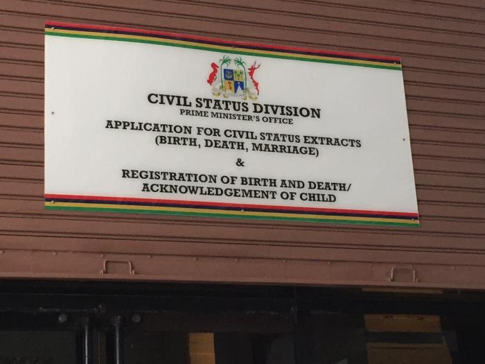 Communiqué du Civil Status