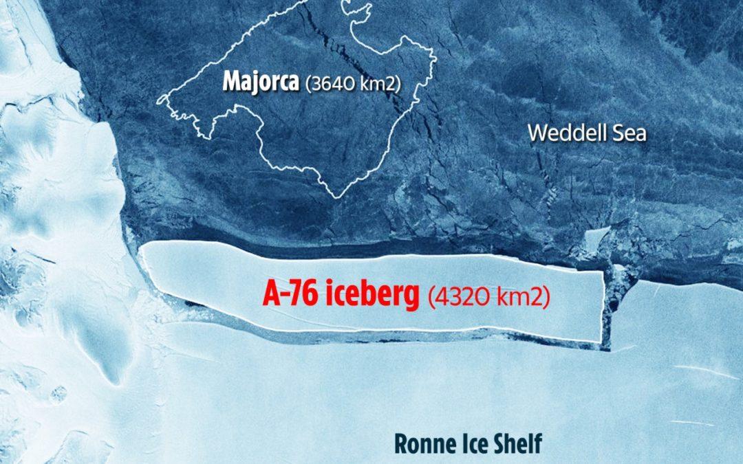 Le plus gros iceberg du monde s'est détaché de la banquise