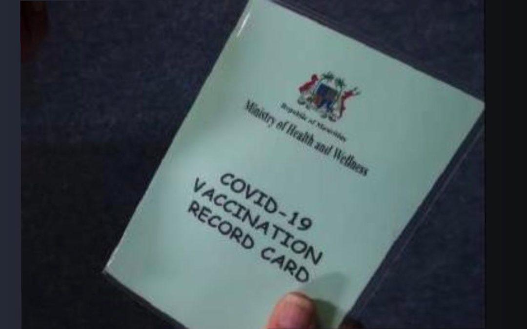 Covid-19 : Demande de carte de vaccination internationale pour voyager