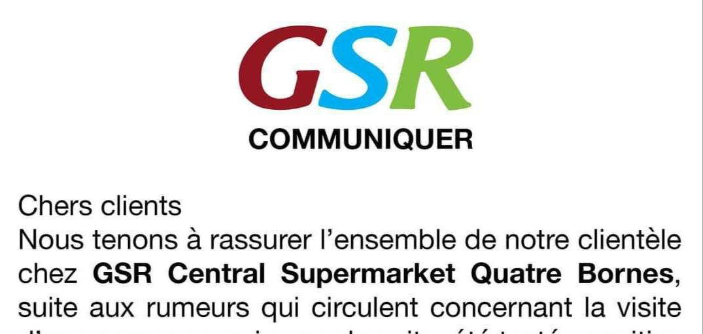 Les employés de GSR Quatre-Bornes testés négatifs
