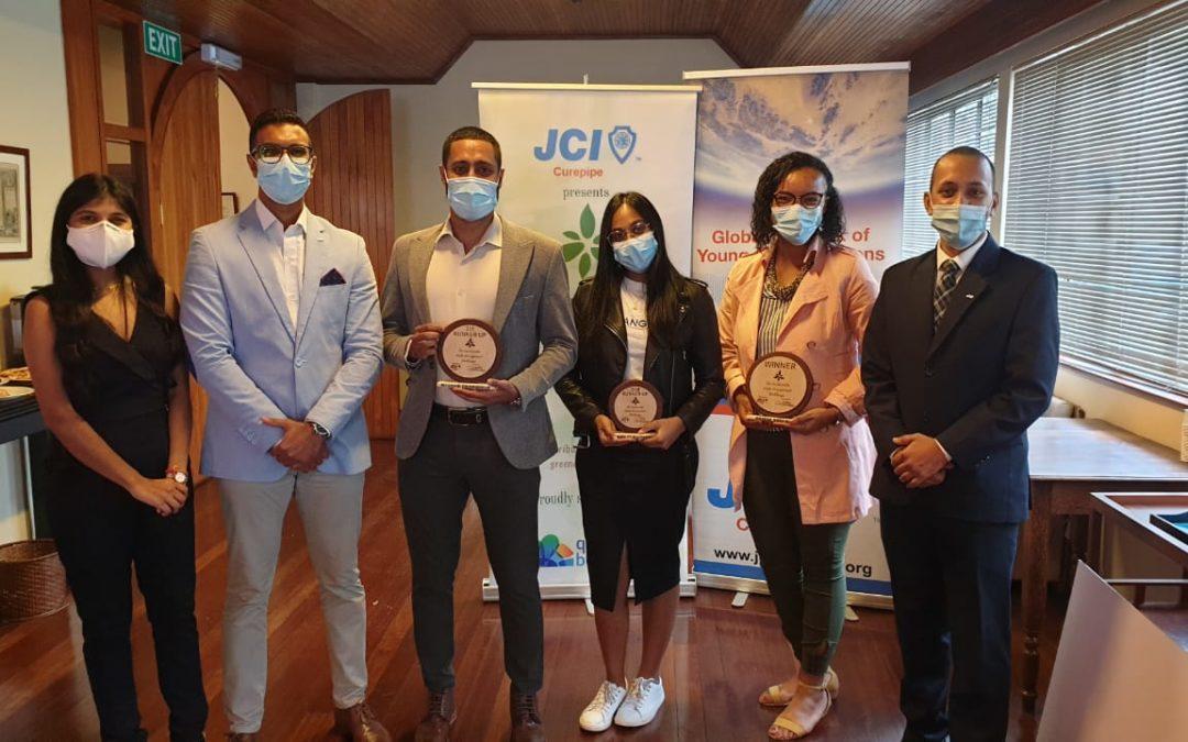 JCI Curepipe-gestion durable des déchets : Trois lauréats récompensés
