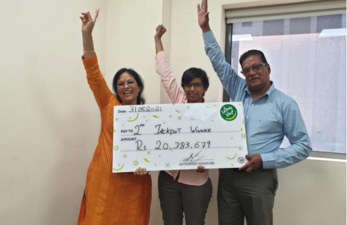 Gagnants de la Loterie Vert : 6 personnes se partagent Rs 20,3 millions