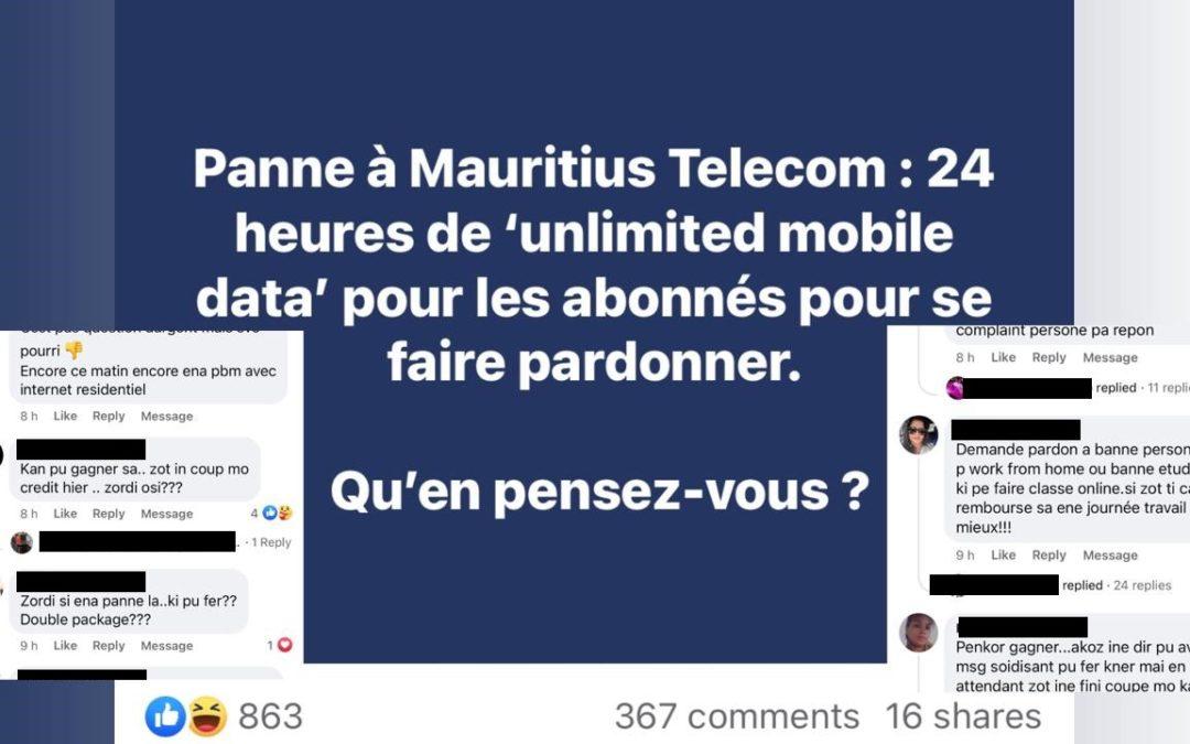 [La voix des internautes] Une vague de critiques suite à la panne de Mauritius Telecom