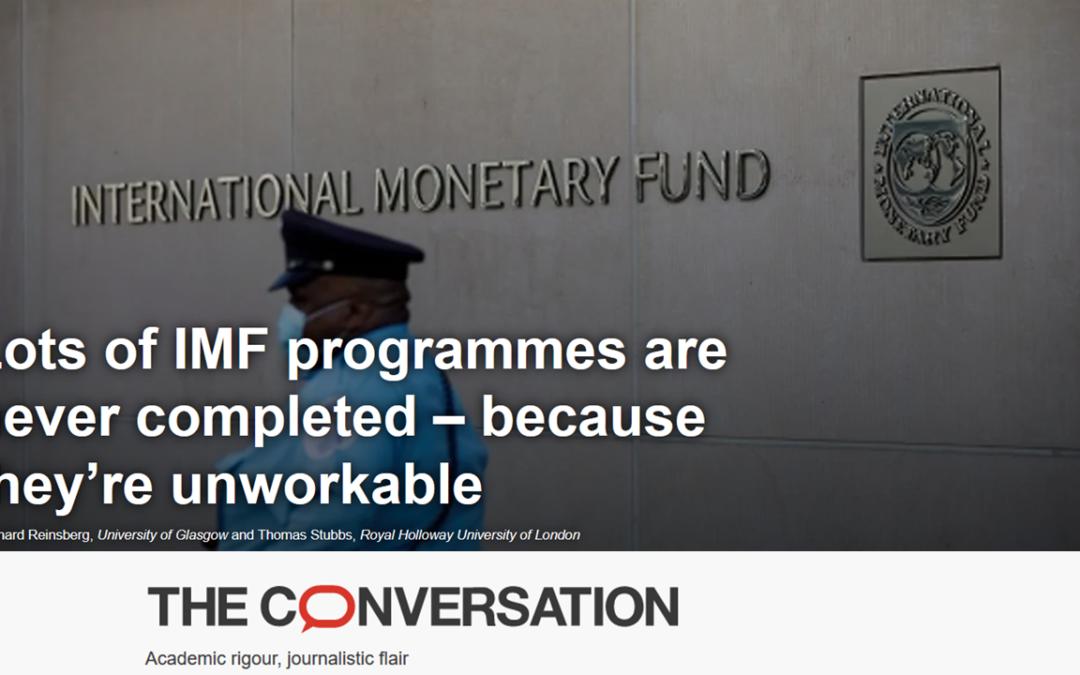 Des programmes du FMI jamais achevés : Ils sont impraticables, soutient theconversation.com