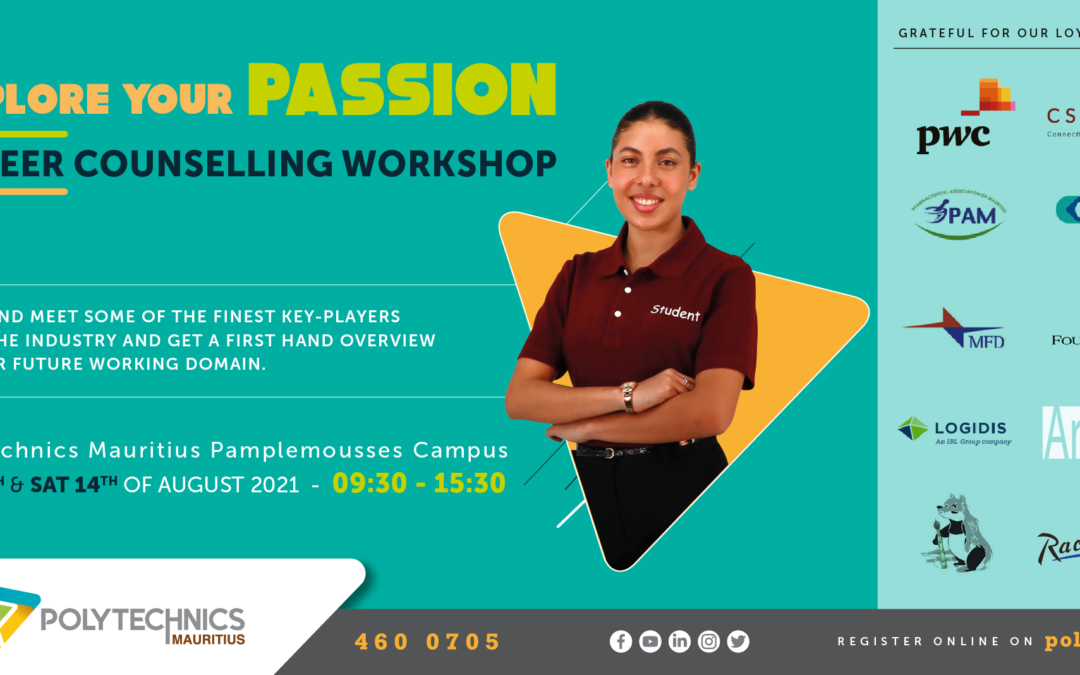 Polytechnics Mauritius – Career Counselling Workshop Friday 13th and Saturday 14th August