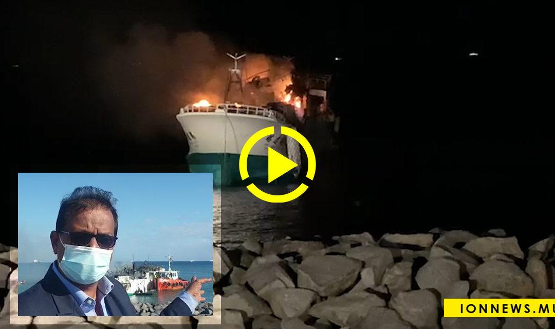 Le Cabinet fait le point sur l'incendie du navire taïwanais