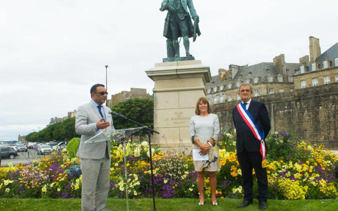 Tricentenaire de l'arrivée des Français à Maurice : L'ambassadeur Valaydon participe aux activités commémoratives à Saint-Malo