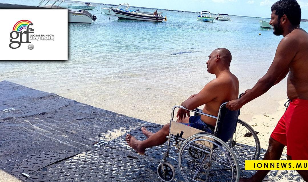 La Global Rainbow Foundation lance son projet d'accessibilité des plages à Flic-en-Flac