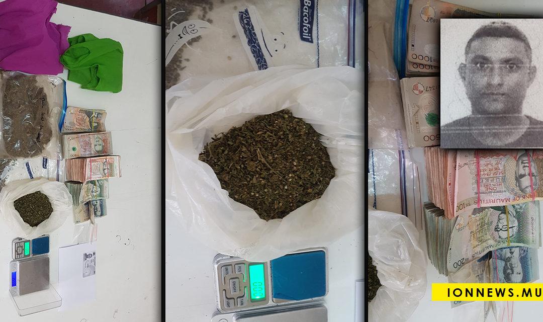 Arrestation d'un présumé trafiquant : Rs 324,000 et du cannabis découverts dans son véhicule
