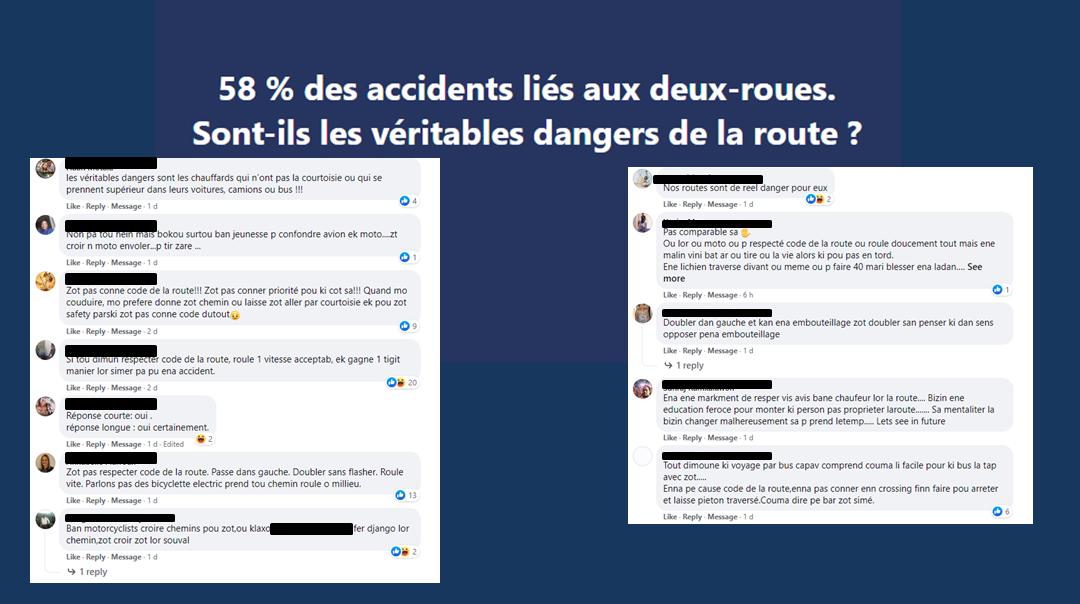 La voix des internautes : « Majorité banne jeunes motocyclistes indiscipliné et manque manière »