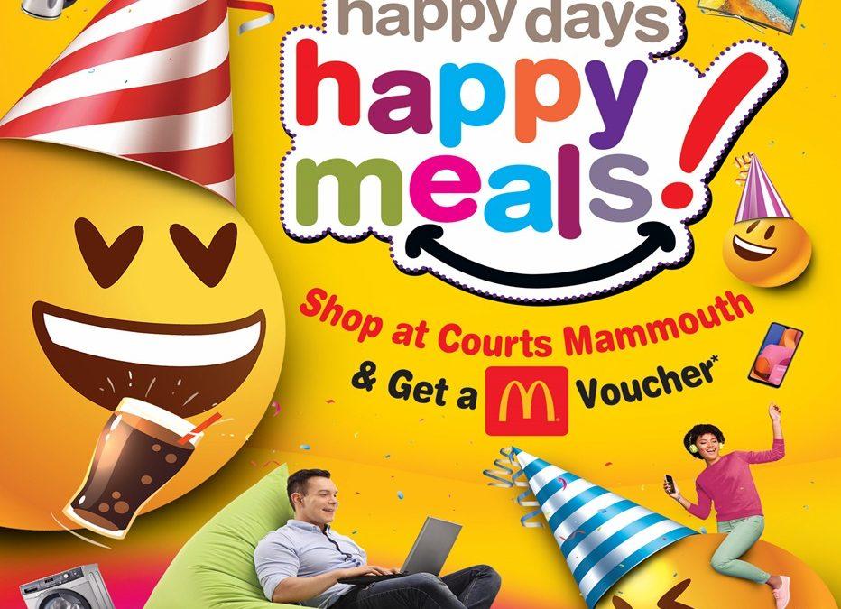 Courts Mammouth fait plaisir à ses clients pour son anniversaire