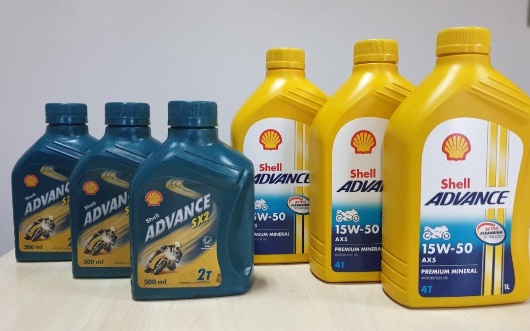 Nouvelle gamme d'huiles Shell destinée aux motos