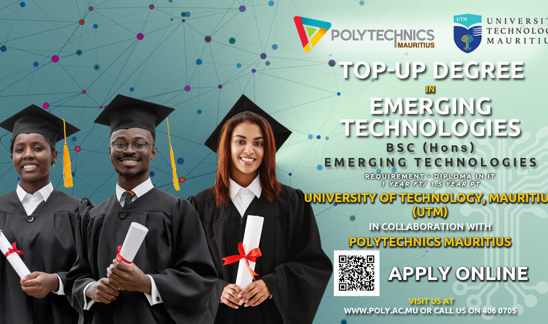 [Polytechnics Mauritius] Online Application : Top Up Degree in Emerging Technologies