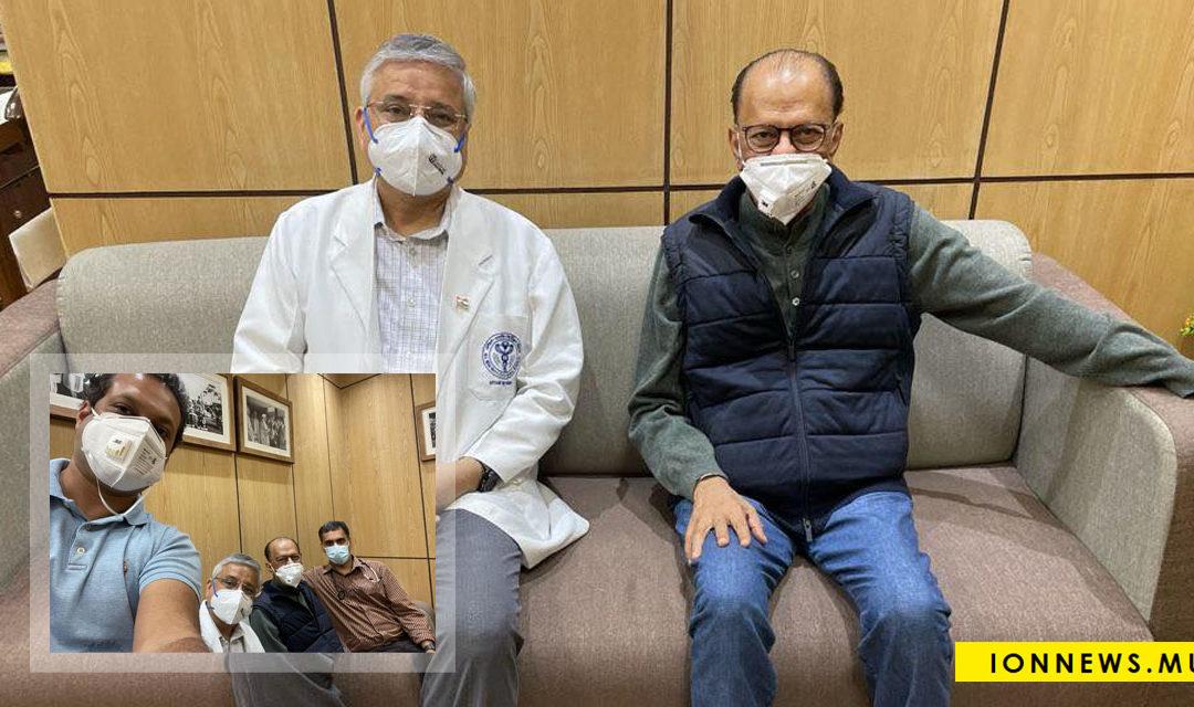 Navin Ramgoolam obtient le feu vert de ses médecins pour rentrer à Maurice