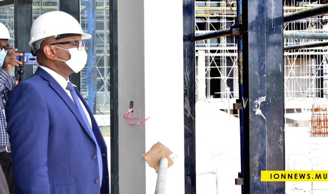 Nouveau bâtiment de la MRA à Plaine-Magnien : Renganaden Padayachy fait un constat des travaux
