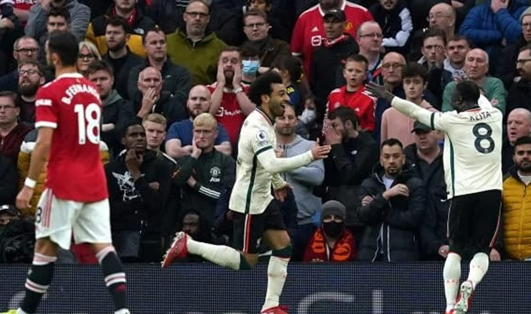 Premier League : Liverpool ridiculise Manchester United et s'offre le derby d'Angleterre à Old Trafford